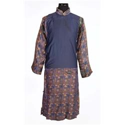 "Paul Muni ""Wang Lung"" dark blue oriental robe from The Good Earth"