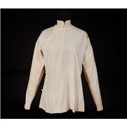 "Luise Rainer ""O-Lan"" ivory cotton oriental shirt from The Good Earth"
