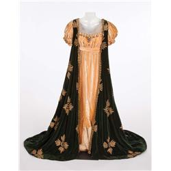 "Lois Meredith ""Countess Potocka"" peach and green velvet period gown from Conquest"