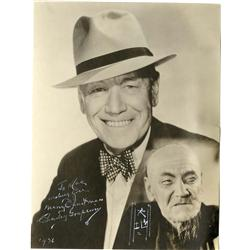 Charley Grapewin, Mae West and Gary Cooper signed portraits