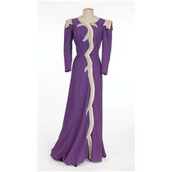 "Mae West ""Peaches O'Day"" purple dress from Every Day's a Holiday"
