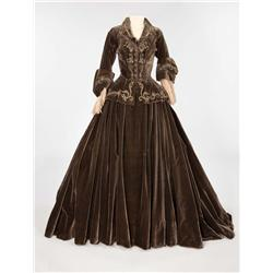 Norma Shearer umber silk velvet two-piece period dress by Adrian from Marie Antoinette