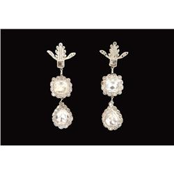 "Norma Shearer ""Marie Antoinette"" three tiered rhinestone earrings from Marie Antoinette"
