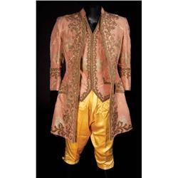 John Barrymore peach silk brocade jacket and vest with pantaloons and shoes from Marie Antoinette