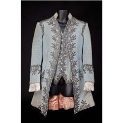 John Barrymore pewter satin heavily embroidered jacket & vest from Marie Antoinette