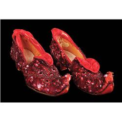 "Judy Garland ""Dorothy Gale"" Arabian-pattern test ""Ruby Slippers"" from The Wizard of Oz"