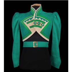 "Emerald-green felt ""Ozmite"" jacket designed by Adrian from The Wizard of Oz"