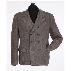 "Basil Rathbone ""Sherlock Holmes"" tweed wool double-breasted jacket from Hound of the Baskervilles"