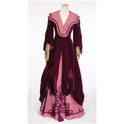 "Andrea Leeds ""Jane McDowell Foster"" purple velvet and pink satin gown from Swanee River"