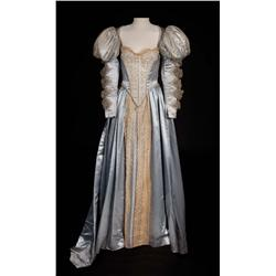 Olivia de Havilland  silver satin period gown from The Private Lives of Elizabeth and Essex