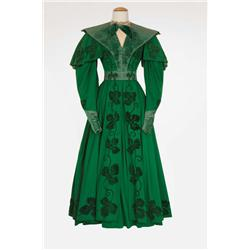 "Ann Rutherford ""Lydia Bennet"" green wool crepe period dress from Pride and Prejudice"