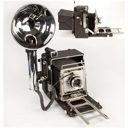 "Clarence Sinclair Bull's complete working 4 x 5 Graflex ""Speed Graphic"" camera and accessories"