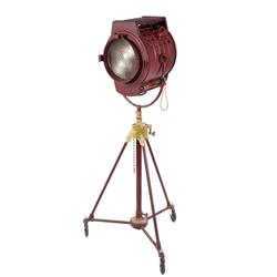 Vintage 5K Fresnel light with stands
