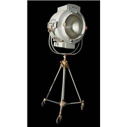 "Vintage MGM studios 10K Fresnel light on tripod by ""RM"""