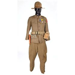 "Gary Cooper ""Alvin C. York"" complete WWI military uniform with accessories from Sergeant York"