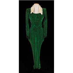 "Lena Horne ""Selina Rogers"" green velvet dress from Stormy Weather"