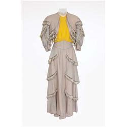 "Judy Garland ""Esther Smith"" Grey period wool dress with tassels from Meet Me in St. Louis"