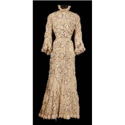 """Mary Astor """"Mrs. Anna Smith"""" ivory lace gown with hat and parasol from Meet Me in St. Louis"""