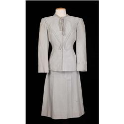 "Ann Blyth ""Veda Pierce"" light grey two-piece suit from Mildred Pierce"
