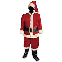 Edmund Gwenn red velvet Santa Claus outfit with rabbit-fur trim from Miracle on 34thStreet