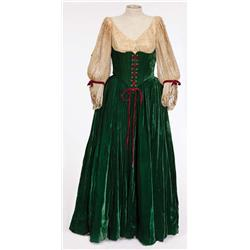 "Linda Darnell ""Amber St. Clair"" green velvet period dress from Forever Amber"