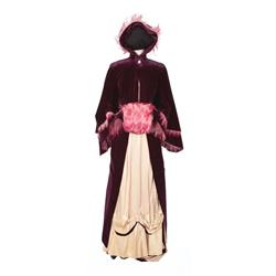 "Katharine Hepburn ""Lutie Cameron Brewton"" period gown and coat from Sea of Grass"