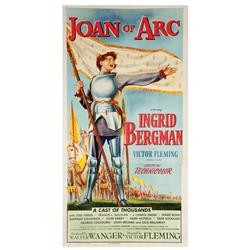 Joan of Arc original U.S. three-sheet poster for the Ingrid Bergman version