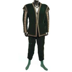 "Errol Flynn ""Don Juan de Marana"" dark green two-piece suit from Adventures of Don Juan"