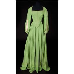 "Lana Turner ""Lady de Winter"" green wool crepe period gown from The Three Musketeers"