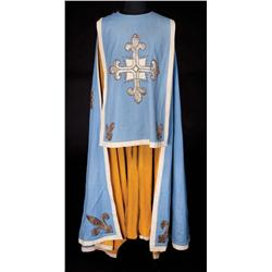 Blue wool long cape and pair of wall sconces from The Three Musketeers