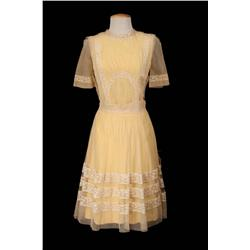 "Debbie Reynolds ""Melba Robinson"" yellow dress from Two Weeks With Love"