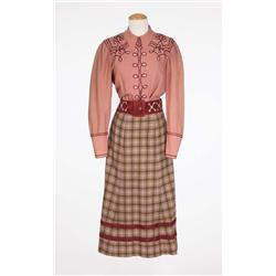 "Benay Venuta ""Dolly Tate"" green and rose plaid dress from Annie Get Your Gun"