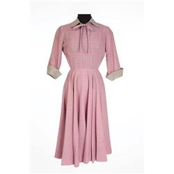 "Joan Crawford ""Harriet Craig"" pink and grey dress from Harriet Craig"