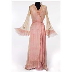 "Vivien Leigh ""Blanche DuBois"" ivory and pink chiffon robe from A Streetcar Named Desire"