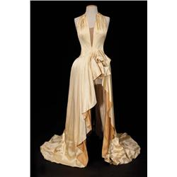 "Nina Foch ""Milo Roberts"" ecru satin halter-style ball gown from An American in Paris"