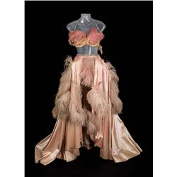"Pat Dean Smith ""Showgirl"" pink satin and ostrich-feather dance gown from An American in Paris"
