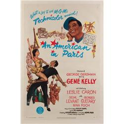 An American in Paris original 1951 U.S. one-sheet poster