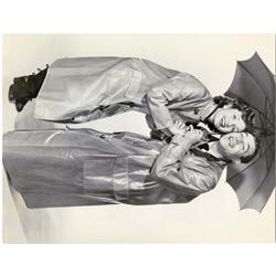Singin in the Rain original oversize portrait still of Debbie Reynolds and Gene Kelly