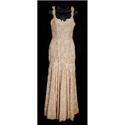 "Lauren Bacall ""Schatze Page"" embroidered lace wedding gown from How to Marry a Millionaire"