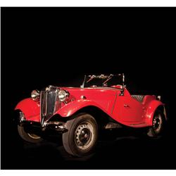 1952 red MG TD used by Marilyn Monroe and Cary Grant in&#160;Monkey Business