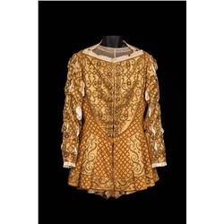 "Charles Laughton ""King Henry VIII"" gold satin outfit from Young Bess"