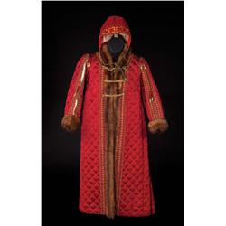 "Rex Thompson ""Prince Edward/King Edward VI"" Burgundy quilted robe from Young Bess"