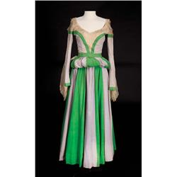"Ann Miller ""Bianca"" Shakespearean period green and gray dress from Kiss Me Kate"