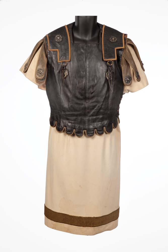 """John Gielgud """"Cassius"""" leather cuirass armor and gold ..."""