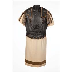 "John Gielgud ""Cassius"" leather cuirass armor and gold-embroidered tunic from Julius Caesar"