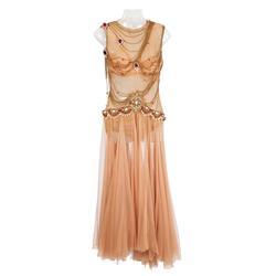Rita Hayworth signature flesh chiffon dress with halter by Jean Louis from the sequence in Salomé