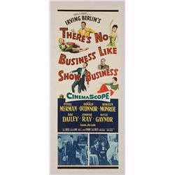 "There's No Business Like Show Business original 14"" x 36"" insert poster for Marilyn Monroe film"