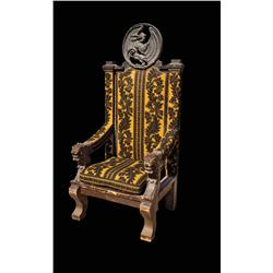 Large dragon's head Medieval throne and candle holders from Prince Valiant