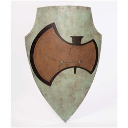 Trio of medieval shields from Prince Valiant