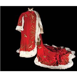 Marlon Brando satin tunic with velvet and fur robe from Desirée